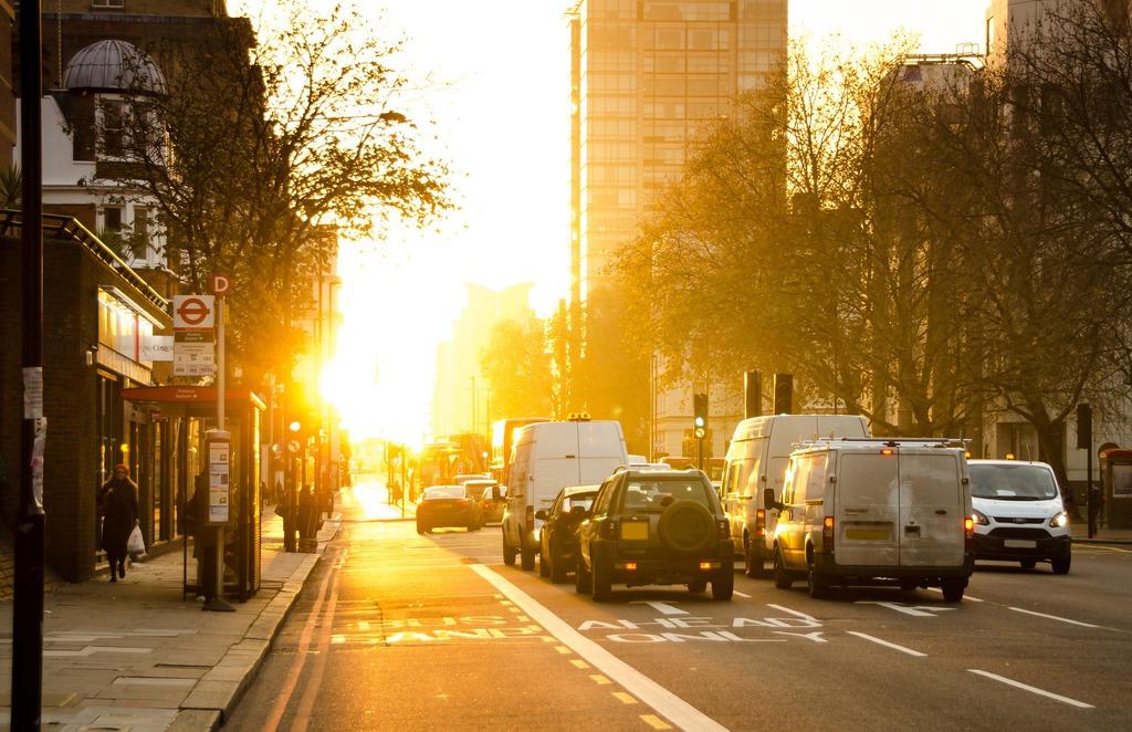 Poranek w mieście