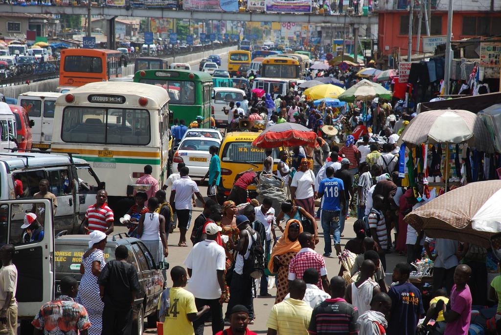 ulica w afrykańskim mieście