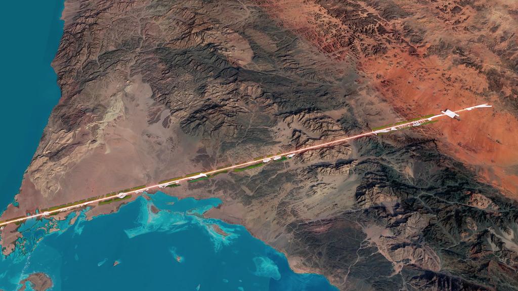 Mapa z zaznaczoną lokalizacją Line City
